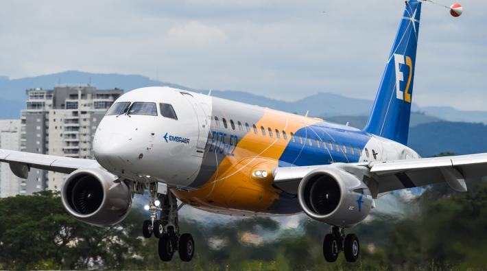 Development of Embraer E175-E2 has been postponed