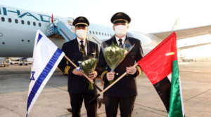 Etihad Airways flies for the first time on Tel Aviv